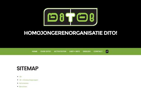 Screenshot of Site Map Page ditonijmegen.nl - Sitemap - Dito! Nijmegen - captured Nov. 10, 2016