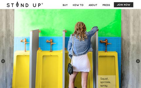 Screenshot of Home Page the-stand-up.com - Stand Up and Join the Urination - captured Feb. 8, 2016