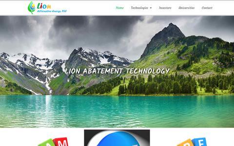 Screenshot of Home Page lionhellas.com - LION – Alternative Energy PLC - captured Sept. 29, 2018