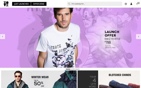 Screenshot of Home Page zovi.com - Online Shopping: Shop online for Mens Shirts, Mens Tees and more - Zovi.com - captured Dec. 2, 2015