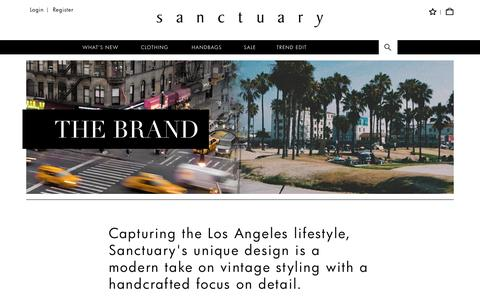Screenshot of About Page sanctuaryclothing.com - About Sanctuary Clothing - captured July 22, 2016