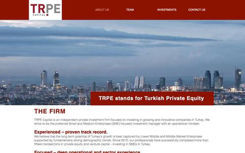 Screenshot of Home Page trpecapital.com - TRPE Capital - Private Equity and Venture Capital in Turkey - captured Nov. 14, 2017