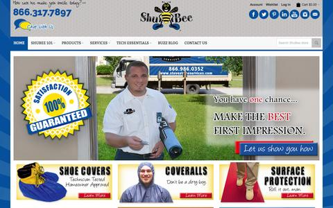 Screenshot of Site Map Page shubee.com - Shoe Covers | Coveralls | Gloves | Surface Protection | Cleaners | Safety | Tools  | ShuBee  | ShuBee - captured Oct. 26, 2014