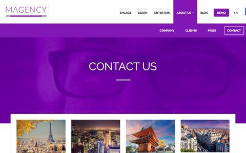 Screenshot of Contact Page magencydigital.com - Contact - Magency - captured Feb. 2, 2016