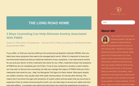 Screenshot of Home Page momentsbychris.com - Blog - The Long Road HomeThe Long Road Home - captured Jan. 12, 2016