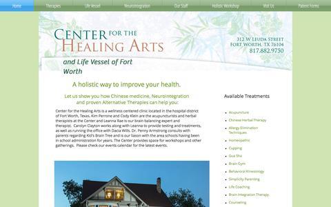 Screenshot of Home Page centerforthehealingarts.net - cftha - captured July 16, 2018