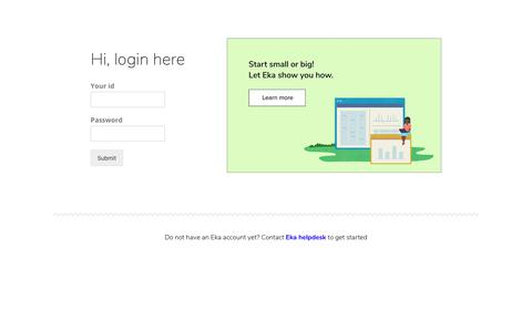 Screenshot of Login Page ekaplus.com - Login - EKA - captured Nov. 3, 2018