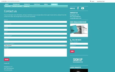 Screenshot of Contact Page crealev.com - Contact us | CREALEV - captured Sept. 22, 2014