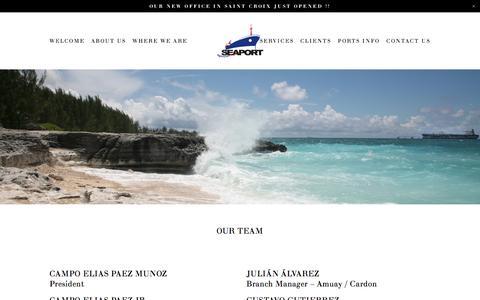 Screenshot of Team Page seaportagencies.com - OUR TEAM — Seaport Agencies - captured Nov. 17, 2016