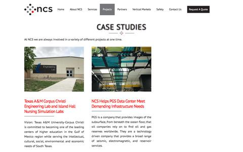 Screenshot of Case Studies Page networkcablingservices.com - Case Studies :: Network Cabling Services - captured July 10, 2018