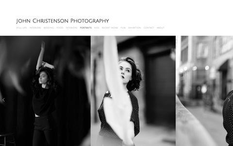 Screenshot of Home Page johnchristenson.com - John Christenson Photography - captured Dec. 20, 2018