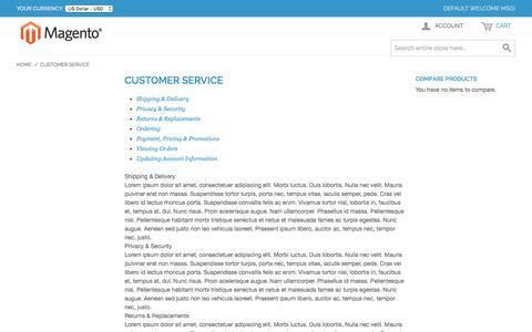 Screenshot of Support Page liveupwards.com - Customer Service - captured Nov. 29, 2016