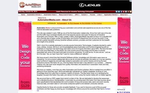 Screenshot of About Page automationmedia.com - Automation & Control Media - About Us - captured Oct. 4, 2014