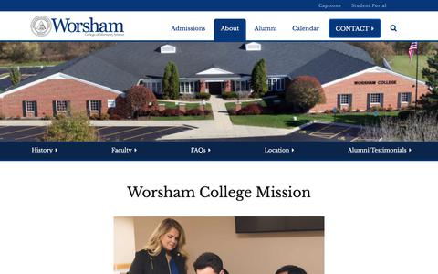 Screenshot of About Page worsham.edu - About - Worsham College of Mortuary Science : Worsham College of Mortuary Science - captured July 4, 2018
