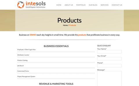 Screenshot of Products Page intesols.com.au - Products - Intesols Melbourne Victoria Australia   intesols.com.au - captured Sept. 24, 2014