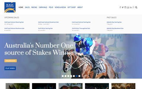 Screenshot of Home Page magicmillions.com.au - Magic Millions - Magic Millions - captured May 27, 2017
