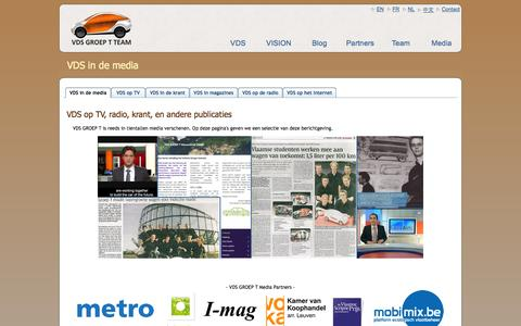 Screenshot of Press Page vehicledesignsummit.be - VDS in de media | VDS GROEP T Team - captured Oct. 26, 2014