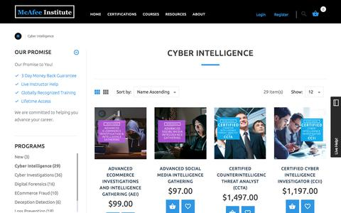 Cyber Intelligence | McAfee Institute
