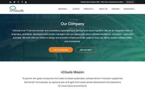 Screenshot of About Page nclouds.com - Devops Managed AWS Automation Service Provider - captured Nov. 2, 2017