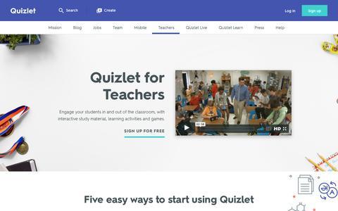 For Teachers | Quizlet