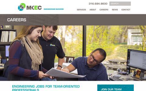 Screenshot of Jobs Page mkec.com - Careers - MKEC - captured Oct. 1, 2018