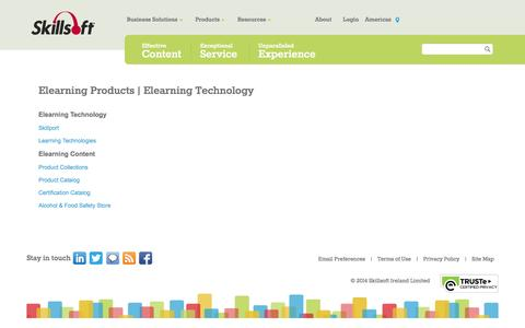 Screenshot of Products Page skillsoft.com - Elearning Products | Elearning Technology - captured Oct. 26, 2014