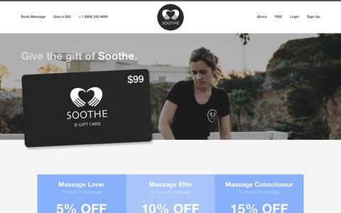 Gifts | Soothe - Massage Delivered to You