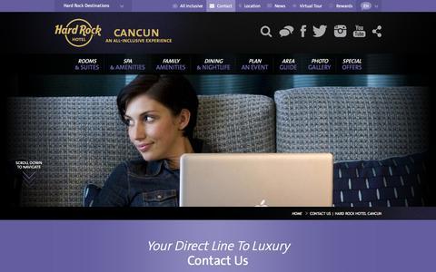 Contact us | Hard Rock Hotel Cancun