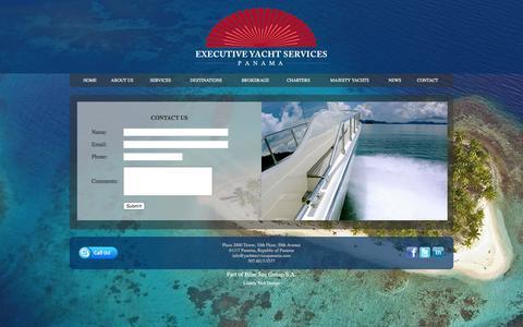 Screenshot of Contact Page yachtservicespanama.com - Executive Yacht Services - Panama - captured Nov. 13, 2016