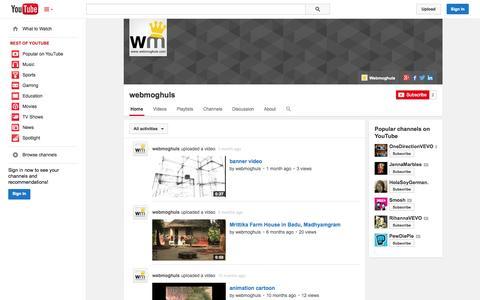 Screenshot of YouTube Page youtube.com - webmoghuls  - YouTube - captured Oct. 25, 2014