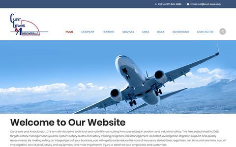Screenshot of Home Page curt-lewis.com - Curt Lewis & Associates LLC – Targeting Safety and Risk Management - captured Nov. 11, 2018