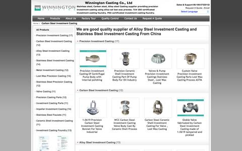 Screenshot of Products Page precision-investmentcasting.com - Carbon Steel Investment Casting manufacturer - also provides Alloy Steel Investment Casting, Stainless SteelInvestment Casting - captured Oct. 26, 2014