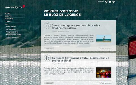 Screenshot of Blog sport-intelligence.fr - sport intelligence - blog - captured Oct. 29, 2014