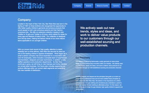 Screenshot of About Page starride.com - Star Ride  - About Us - captured Oct. 7, 2014