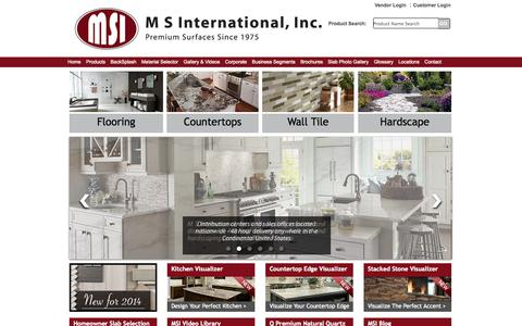 Screenshot of Home Page msistone.com - Natural Stone | Natural Stone and Porcelain Distributor | MSI Stone - captured Sept. 19, 2014