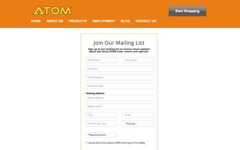 Screenshot of Signup Page atom.com.au - ATOM   Sign Up - captured Oct. 2, 2018