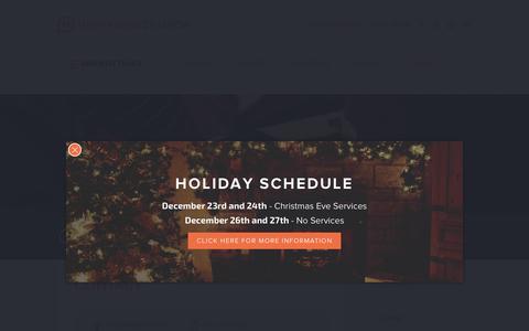 Screenshot of Contact Page highridgechurch.com - Contact | HighRidge Church - captured Dec. 10, 2015