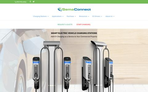Screenshot of Home Page semaconnect.com - Buy Electric Car Charging Station Online | SemaConnect - captured Nov. 8, 2019