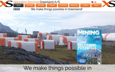 Screenshot of Home Page xplorationservices.com - Xploration Services Greenland A/S - captured Nov. 4, 2017