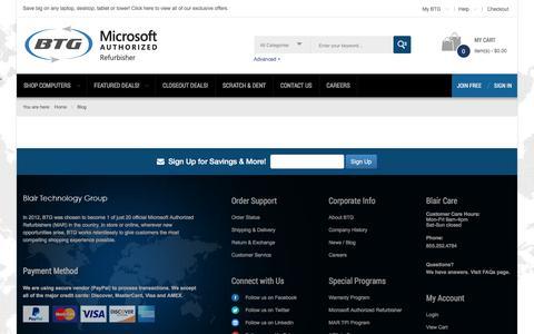 Screenshot of Blog blairtg.com - BlairTG.com -  Information - BTG - Microsoft Authorized Refurbisher - captured Oct. 10, 2017