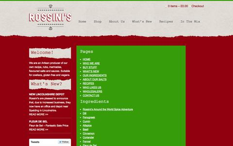 Screenshot of Site Map Page rossinisrubs.co.uk - Rossinis Rubs & Marinades - Site Map - captured Oct. 7, 2014