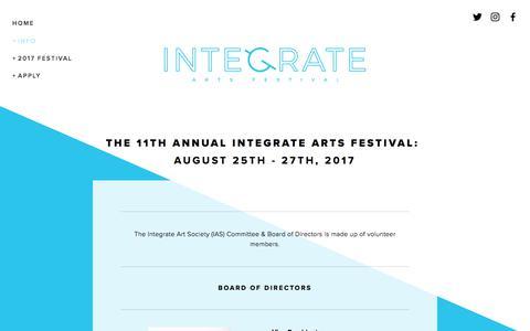 Screenshot of Team Page integratearts.ca - TEAM — Integrate Arts Festival - captured Jan. 15, 2018