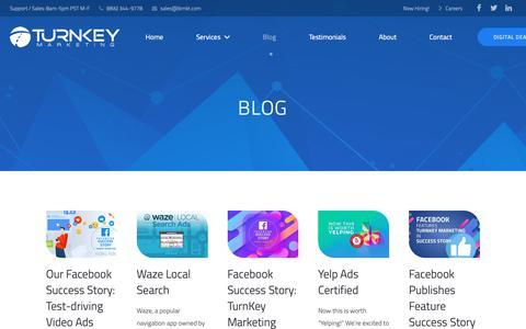 Screenshot of Blog tkmkt.com - Turnkey Marketing Blog - captured Oct. 18, 2018