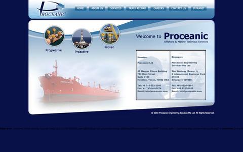 Screenshot of Home Page proceanic.com - Proceanic - captured Sept. 26, 2014