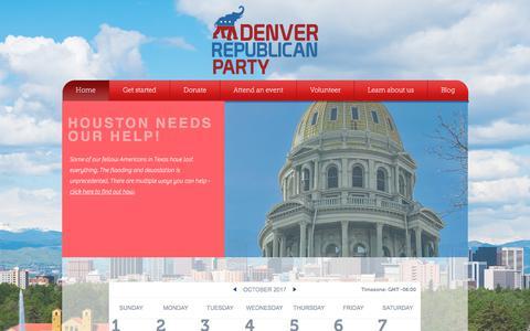 Screenshot of Home Page denvergop.org - Home   Denver GOP - captured Oct. 12, 2017