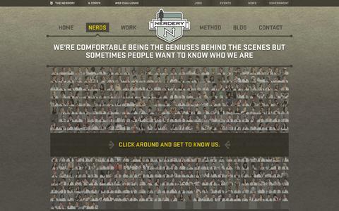 Screenshot of Team Page nerdery.com - Meet the Nerds | The Nerdery - captured Sept. 19, 2014