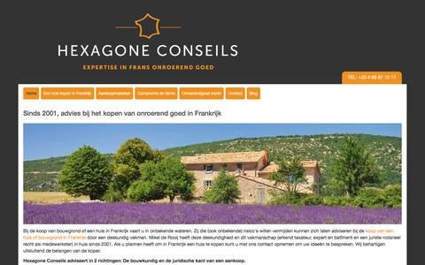 Screenshot of Home Page hexagone-conseils.fr - Hexagone Advies - expertise in Frans onroerend goed - captured May 8, 2017