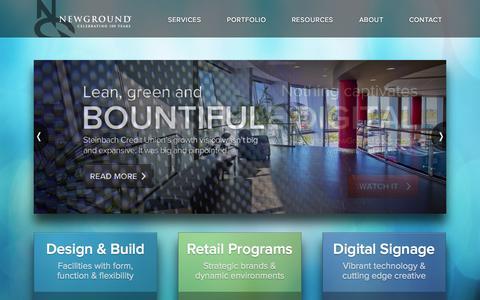 Screenshot of Home Page newground.com - Home | Welcome to NewGround - captured Sept. 23, 2014
