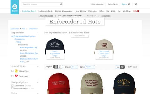 Embroidered Hats | Zazzle
