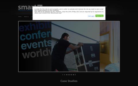 Screenshot of Case Studies Page smart-av.com - Case Studies From Smart AV - See why we are proud of all our work - captured Sept. 30, 2014